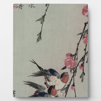 Moon, Swallows and Peach Blossoms by Hiroshige Photo Plaques