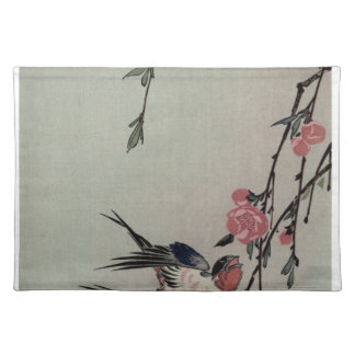Moon, Swallows and Peach Blossoms by Hiroshige Placemat