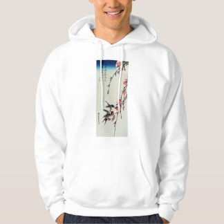 Moon, Swallows and Peach Blossoms Hoodie