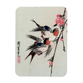 Moon Swallows and Peach Blossoms Magnet