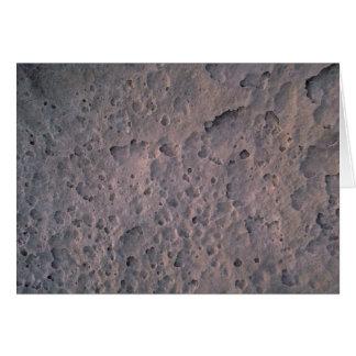 Moon texture greeting card