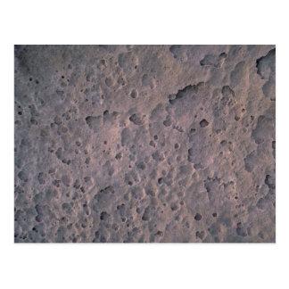 Moon texture postcard