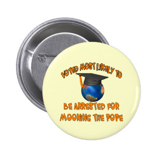Moon The Pope Pinback Button