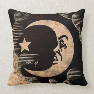 Moon Throw Pillow Witch Board