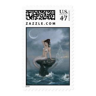 Moon Tide Mermaid Custom Postage
