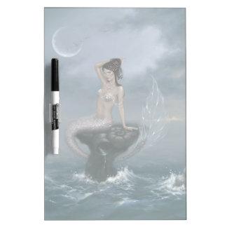 Moon Tide Mermaid Dry Erase Board