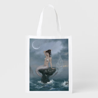 Moon Tide Mermaid Reusable Grocery Bag