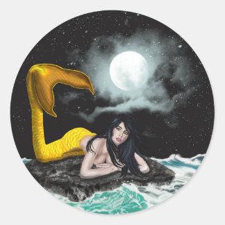 Moon Tide Mermaid Stickers
