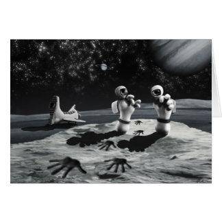 Moon Tracks Card