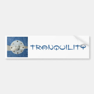 Moon Tranquility - collage Bumper Sticker