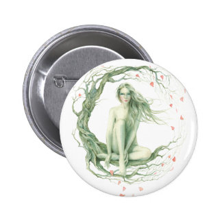"""""""Moon Tree"""" By Scot Howden Pinback Button"""