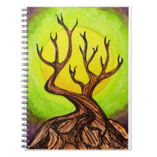 Moon & Tree Notebook Spiral Note Book