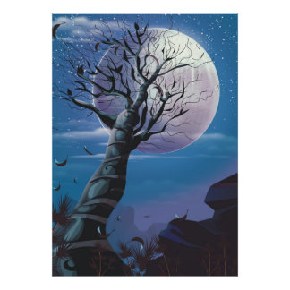 Moon Tree Poster