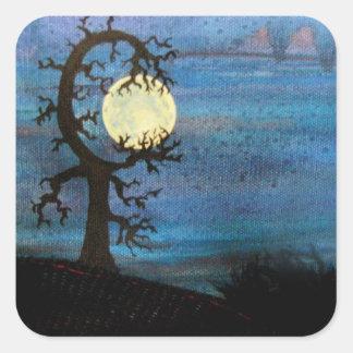 Moon Tree Sticker
