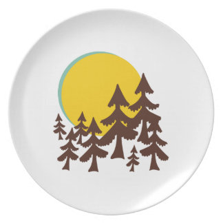 Moon & Trees Party Plate