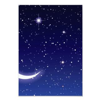 Moon & Twinkling Stars Card