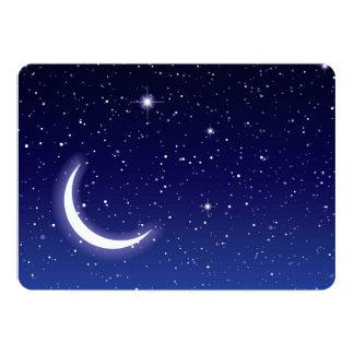 Moon & Twinkling Stars Invite