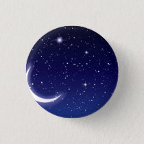 Moon & Twinkling Stars Pinback Button