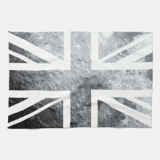 Moon Union Jack British(UK) Flag Kitchen Towel