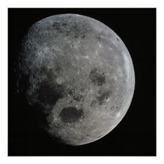Moon viewed from Apollo 8 Poster