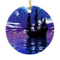 Moon Voyager Ceramic Ornament