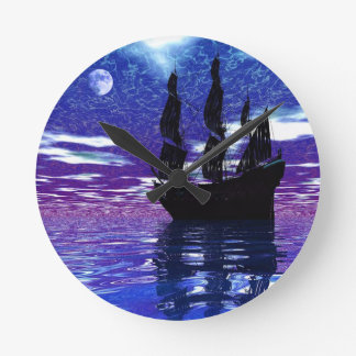 Moon Voyager Round Clock