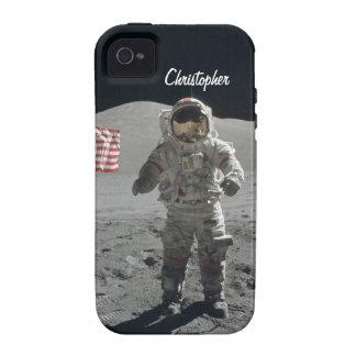 Moon walk astronaut space custom boys name vibe iPhone 4 case