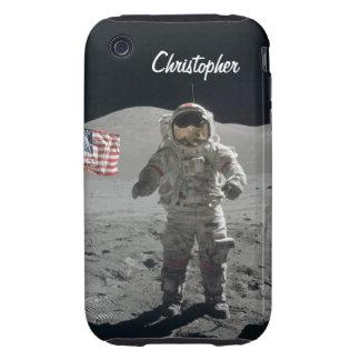 Moon walk astronaut space custom boys name tough iPhone 3 covers