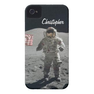 Moon walk astronaut space custom boys name iPhone 4 covers