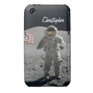 Moon walk astronaut space custom boys name Case-Mate iPhone 3 cases