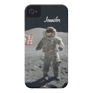 Moon walk astronaut space custom girls name Case-Mate iPhone 4 case