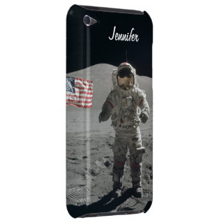 Moon walk astronaut space custom girls name Case-Mate iPod touch case