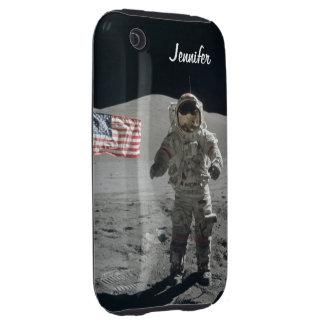 Moon walk astronaut space custom girls name tough iPhone 3 case