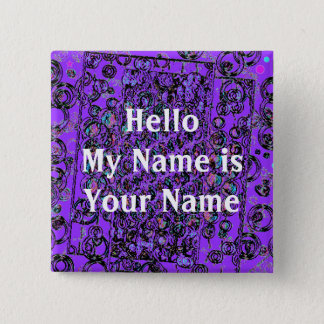 Moon walk design , Hello My Name is Your Name Pinback Button