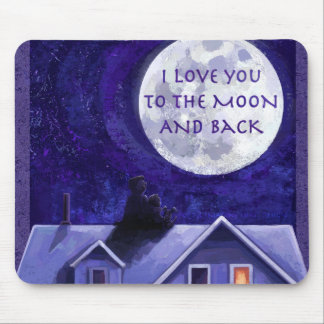Moon Watch Mouse Pad