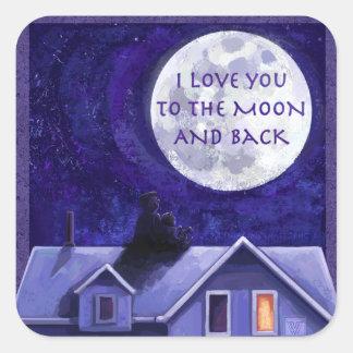 Moon Watch Square Sticker