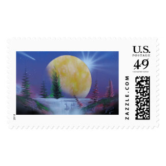 Moon waterfall stamps