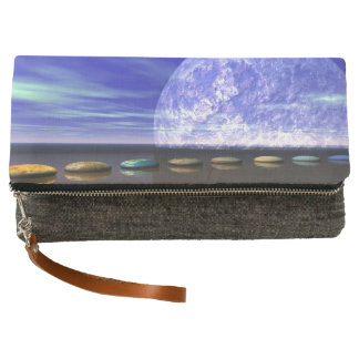 moon white and stone and steps clutch