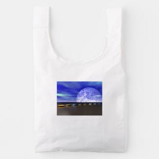 moon white and stone and steps reusable bag