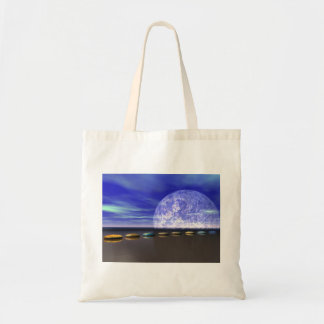 moon white and stone and steps tote bag