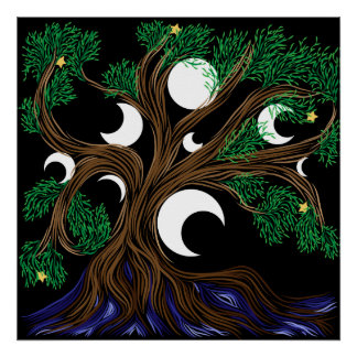 Moon Willow Poster