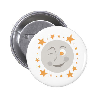 Moon Wink Pinback Buttons
