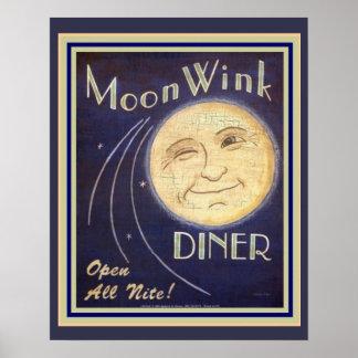 Moon Wink Diner 16 x 20 Poster