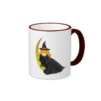 Moon Witch Ringer Mug