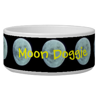 Moon with custom name bowl
