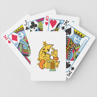 Moon with Nightcap Bicycle Playing Cards