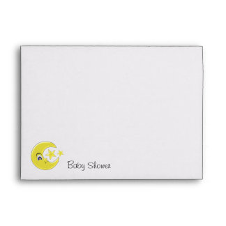 Moon With Stars Baby Shower Envelope