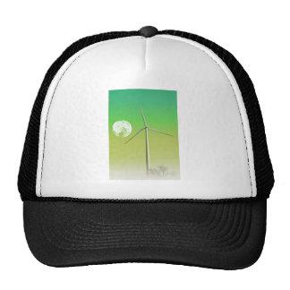 Moon With Wind Turbine Trucker Hat
