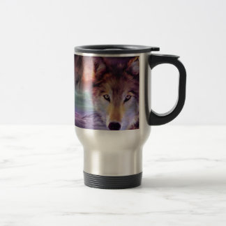 Moon Wolf Travel Mug