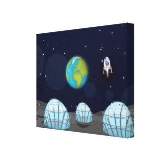 Moonbase Canvas Print